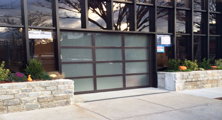 Glass garage door residential
