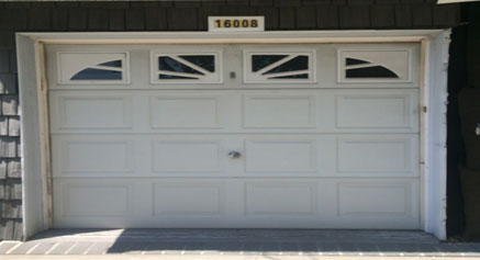 Before - Old garage door Rye New York