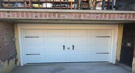 After the new overhead garage door installed