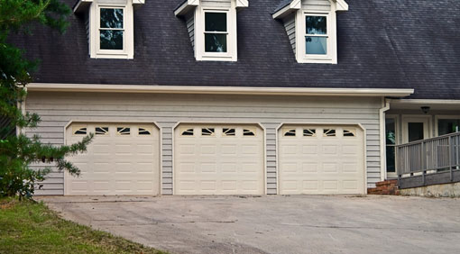 Triple Garage door installation Westchester County